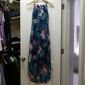 Old Navy floral high low dress size XS